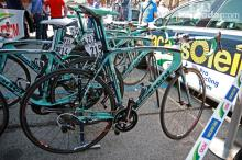 Gustav Larsson (Vacansoleil-DCM) ran a Bianchi Oltre Superleggera and shallow-profile FFWD carbon tubulars for his run at Stage 19.