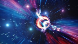 Wormholes have been proposed as one possible means of traveling through time.