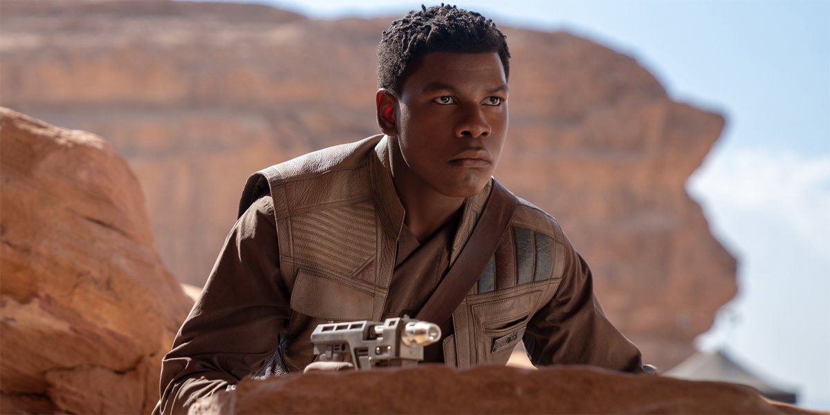 John Boyega as Finn in Star Wars The Rise Of Skywalker