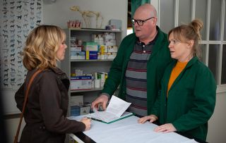 Paddy is stunned in Emmerdale by what Rhona has to say
