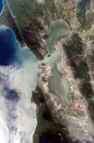 San Francisco Bay from space