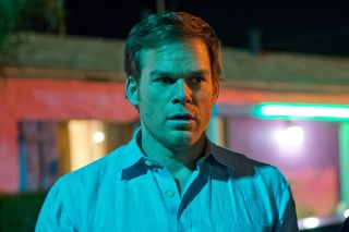 Michael C. Hall as Dexter.