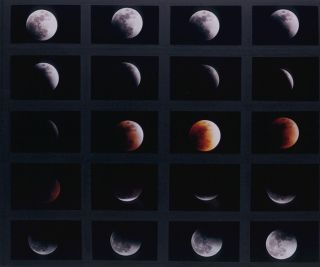Composite images of Jan 2000 lunar eclipse