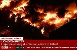 Independent music and film companies hit by Enfield warehouse fire