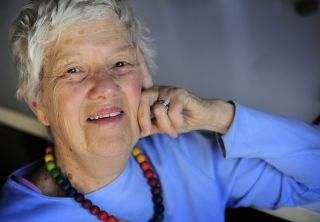 Vera Rubin in her office at the Carnegie Institution in Washington, DC on January 14, 2010.