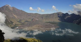Samalas caldera and Segara Anak lake