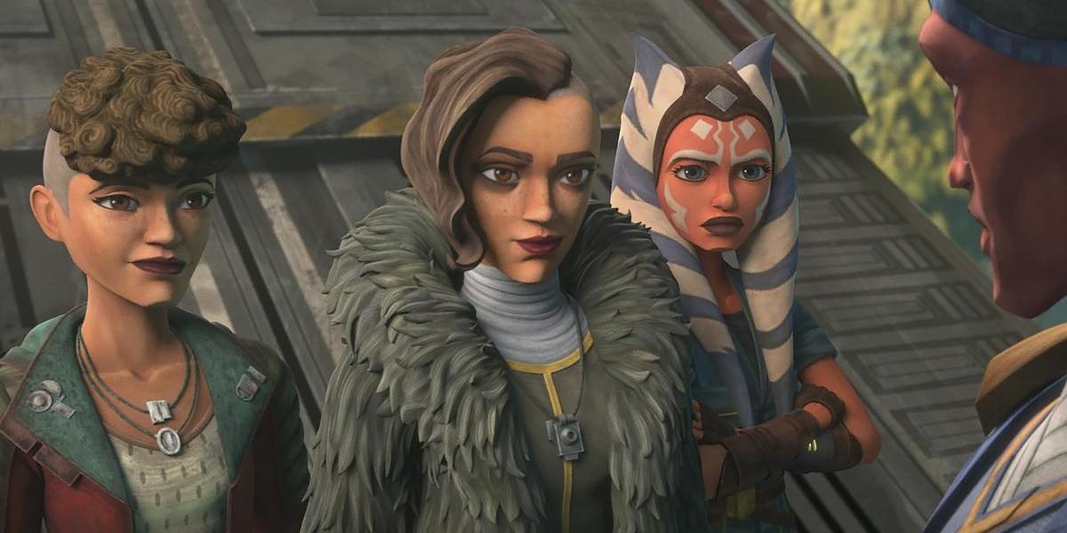 Trace, Rafa and Ahsoka in Star Wars: The Clone Wars