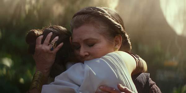 Leia and Rey hug in Star Wars Rise of Skywalker trailer