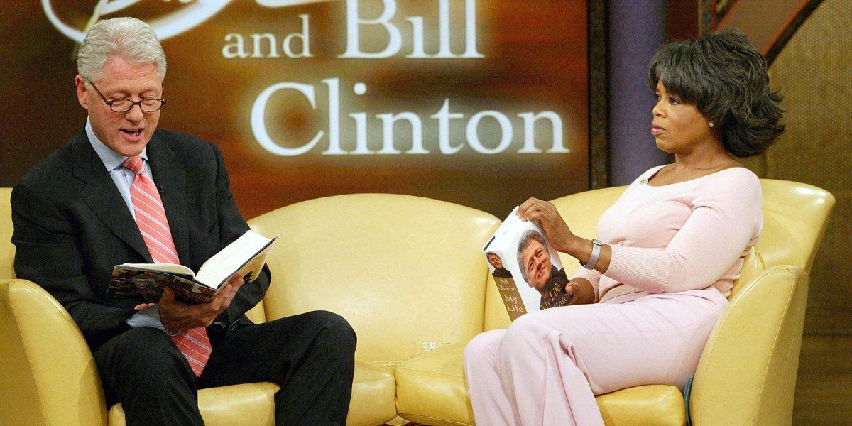 Bill Clinton with Oprah Winfrey on her talk show