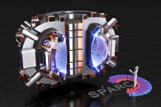A cutaway rendering of the proposed SPARC tokamak.