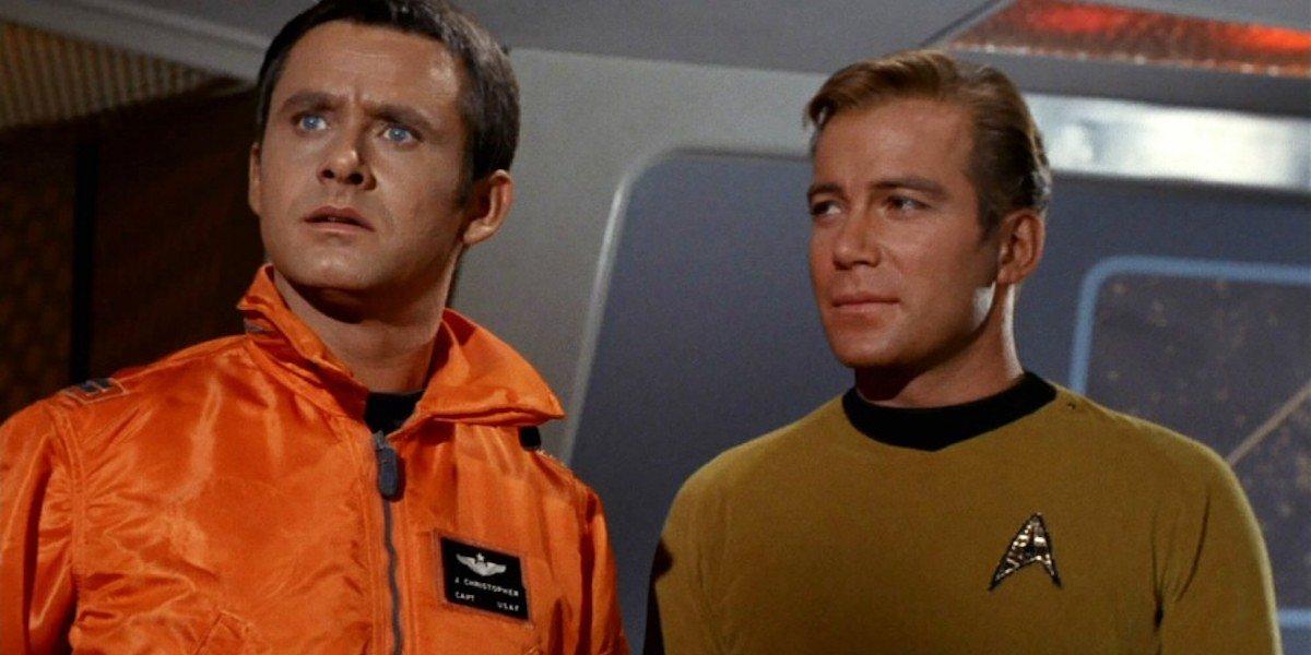 John Christopher and William Shatner in Tomorrow Is Yesterday Star Trek episode