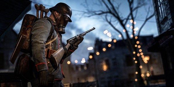 soldier stands guard Battlefield  Prise de Tahure