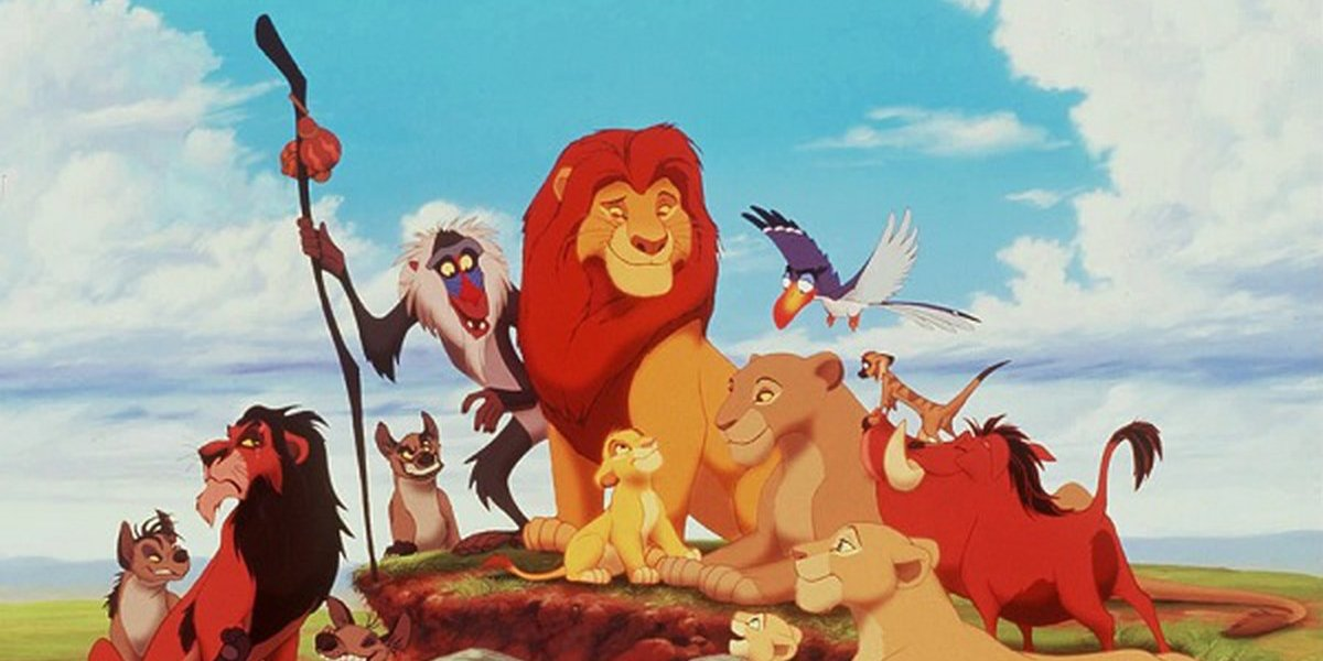 The cast of characters from Disney's animated classic The Lion King