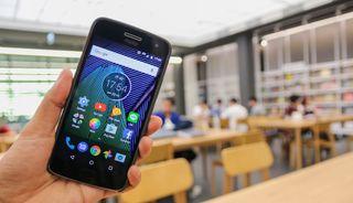 A Motorola Moto G5 phone running stock Android 7 Nougat.