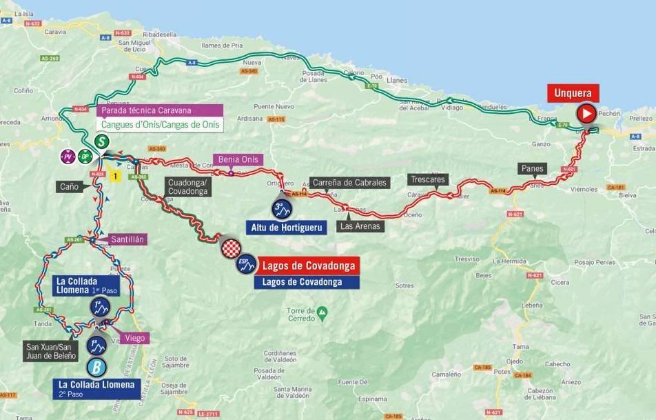 Tour de España 2021 del nivel del mapa 17