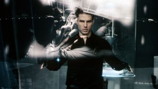 A still showing Tom Cruise in the movie Minority Report.