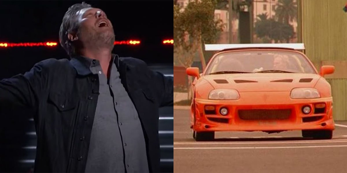 Blake Shelton and The Fast And The Furious Side-by-side