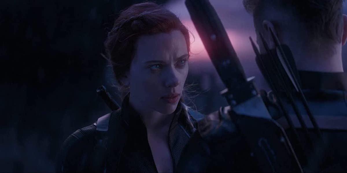 Natasha Romanoff (Scarlett Johansson) faces Clint Barton in Avengers: Endgame (2019)