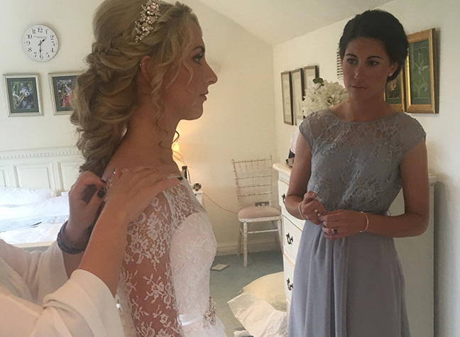 The Bride S Sister Emma Trott As Well Fellow Cyclist Dani King Were Among Bridesmaids Jason Kenny