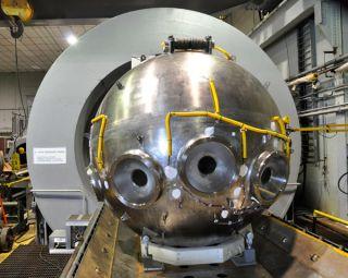 Alvin submersible personnel sphere test.