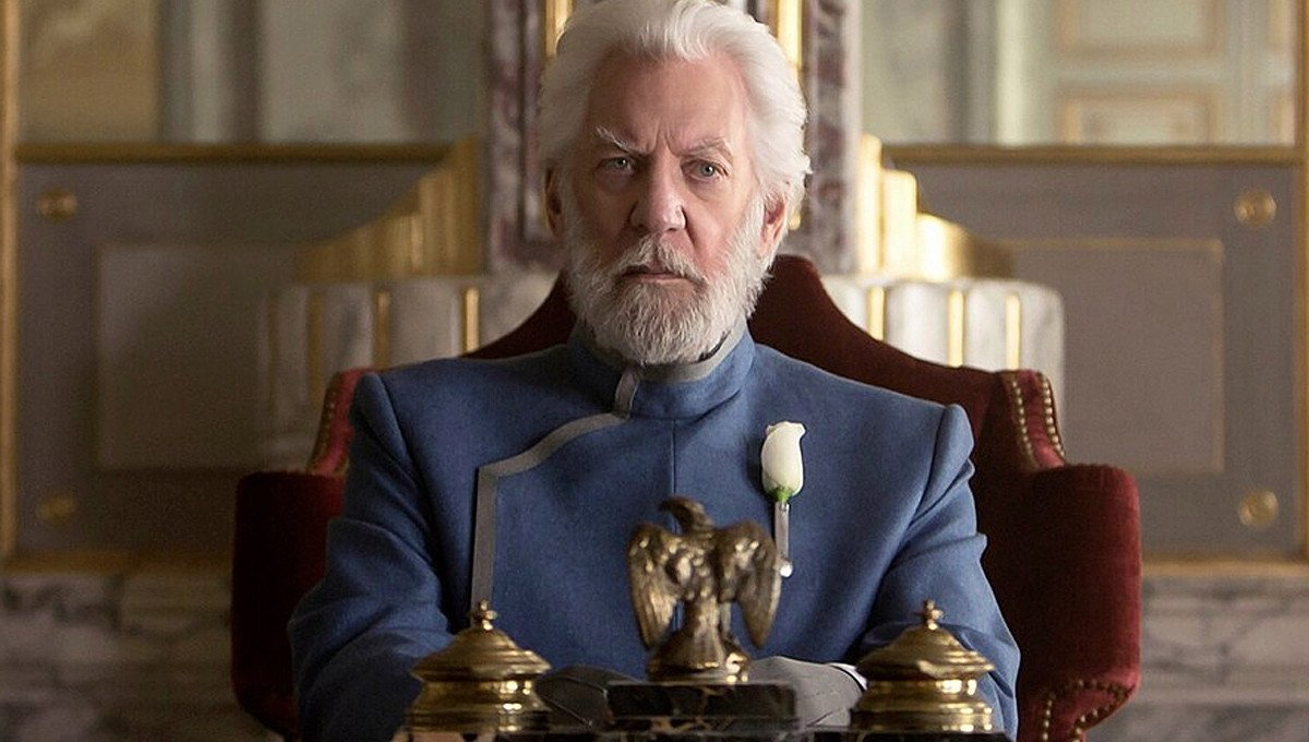 Donald Sutherland as President Snow in  Hunger Games