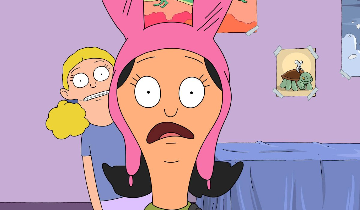 Bob's Burgers Millie creeps up behind Louise