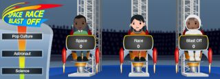 Space Race Blastoff, NASA's first online game for the social media age.
