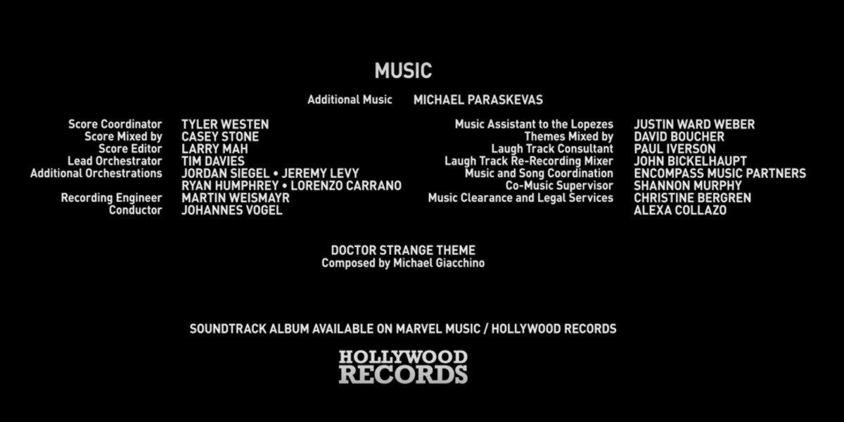 WandaVision's changed credits with Michael Giacchino's name