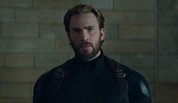 Avengers: Infinity War Steve Rogers with his post-Civil War beard