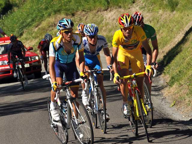 Contador Valverde Dauphine Libere 2009 stage 7