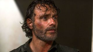 Andrew Lincoln as Rick Grimes, who will leave during The Walking Dead season 9