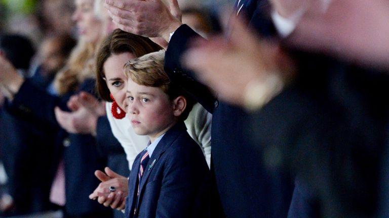 Prince George watching England at Wembley