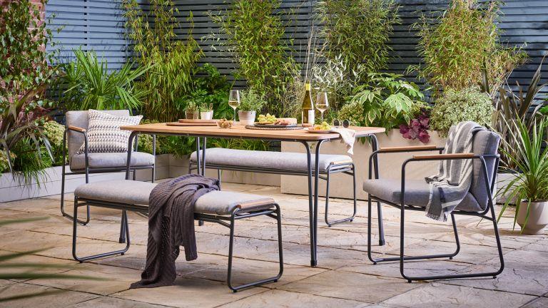 Trenton six seater patio dining set from Argos