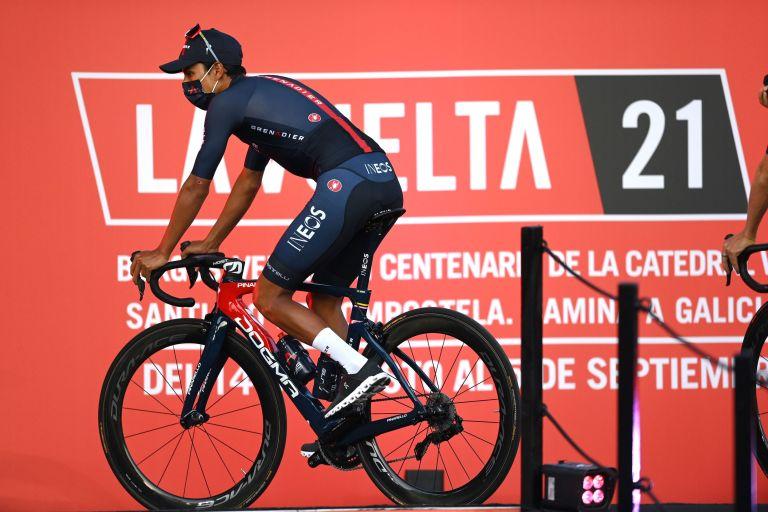 Egan Bernal at the Vuelta a España 2021 team presentation