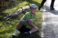 After fighting for the race lead in Paris-Nice, Gianni Meersman found himself on the ground in the last 10km
