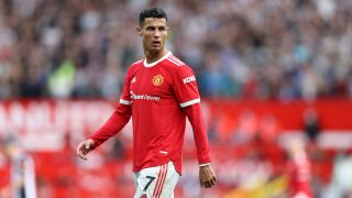 Cristiano Ronaldo playing the Premier League for Manchester United