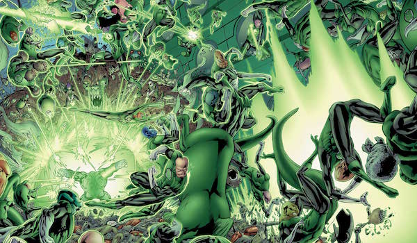 The Green Lantern Corps fighting