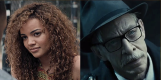 Leslie Grace and J.K. Simmons side by side