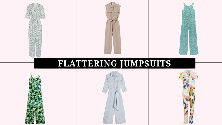 collage of the most flattering jumpsuits