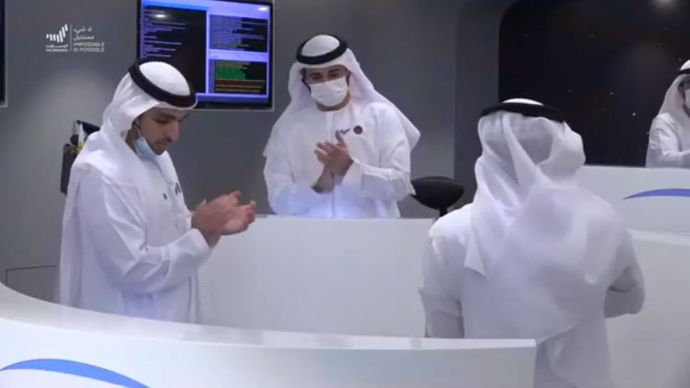 Welcome to Mars! UAE's Hope probe enters orbit around Red Planet.