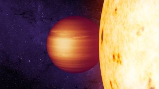 Hot Jupiter exoplanet CoRoT 2b art
