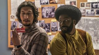 An image of Adam Driver and John David Washington in BlacKkKlansman
