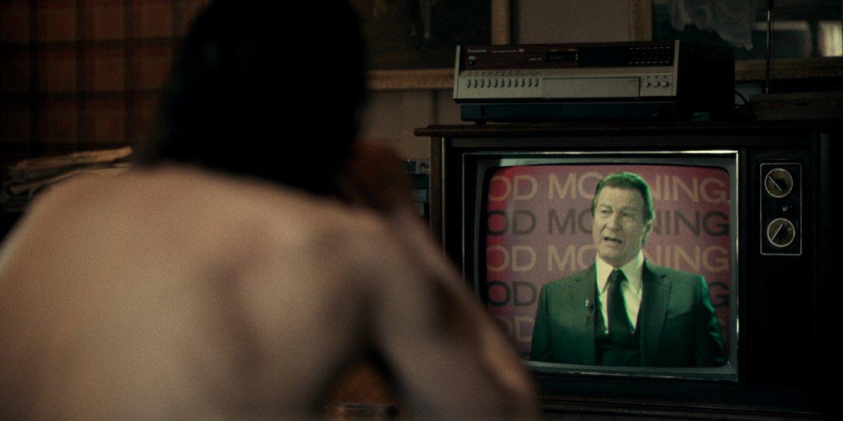 Arthur watches Thomas Wayne on TV in Joker