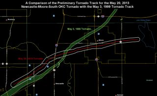 Oklahoma tornado tracks