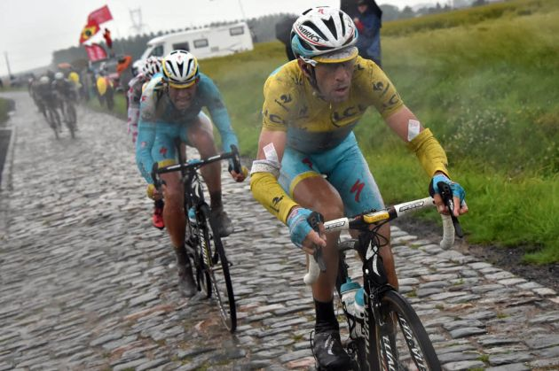 VINCENZO NIBALI on stage five of the 2014 Tour de France