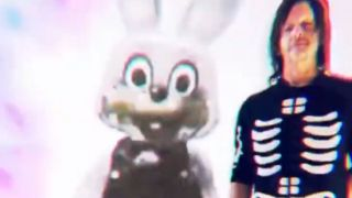 Norman Reedus and Robbie the Rabbit