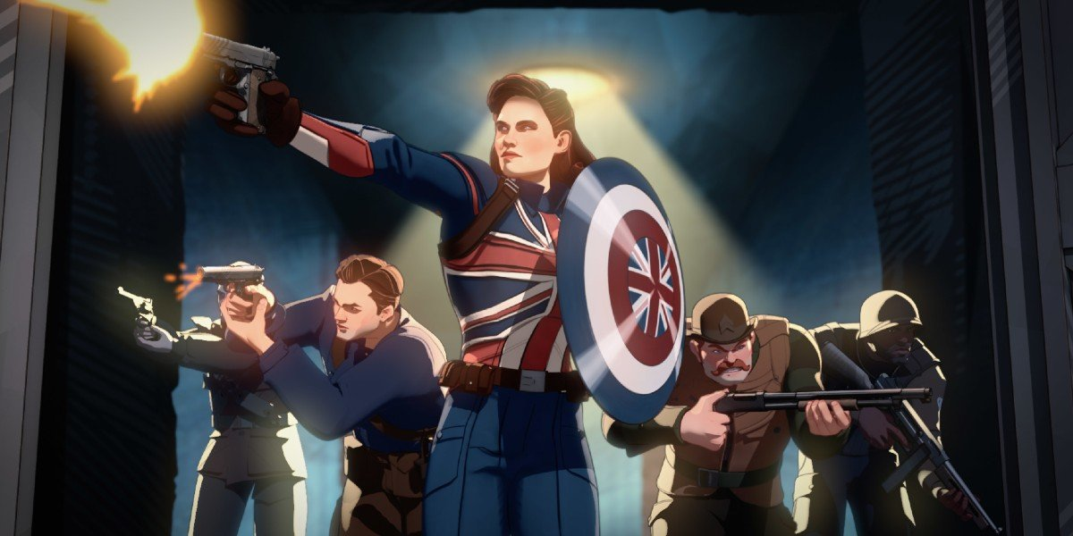 Captain Carter and the Howling Commandos charge in on What If...? (2021)