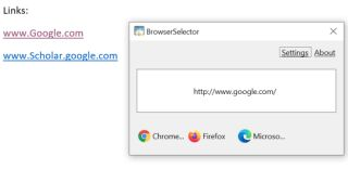 How to enable dynamic browser selection on Windows 10