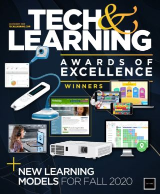 Tech&Learning's July/August 2020 cover with selected Awards of Excellence winners
