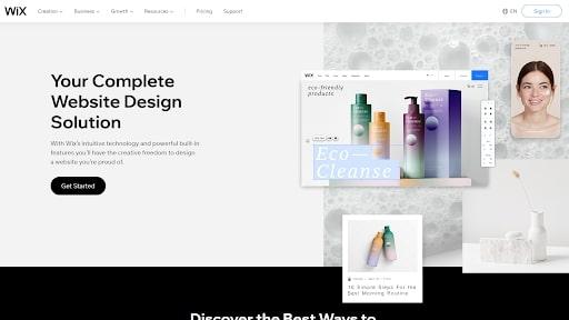 Wix's website